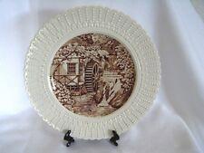 "Water Wheel, Groudle Glen, Isle of Man, Royal Cauldon England 9 3/4"" Plate Sepia"