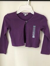 Naartjie Kids Girls Purple Cardigan Shrug Long Sleeves Size 4 NWT