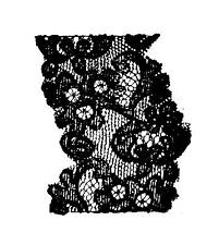 Lace Scrap Rubber Stamp