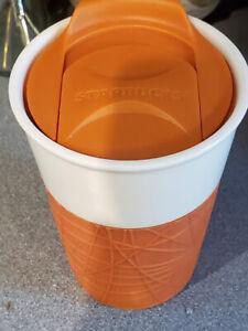 STARBUCKS Rubber Silicon Sleeve Grip Ceramic Tumbler Travel Mug 8oz