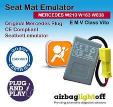 Asiento del pasajero Airbag Sensor de ocupación emulador W210 W163 W638 mercedes clase e