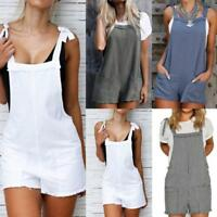 Womens Summer Strap Romper Casual Jumpsuit Beach Shorts Trousers Loose Overall*