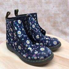 Dr Martens Delaney Womens Size 3US 34EU Blue Floral Lace Up Ankle Boots DH11