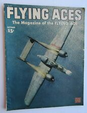 Flying Aces Magazine Oct 1944 Northrup  P-61 Black Widow Cover