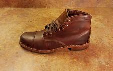 Wolverine 'Adrian' Cap Toe 1000 Mile Brown Leather Boots Men Size 10 D MSRP $415