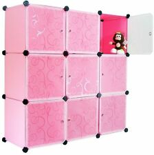 Furniture Bookcase Storage Cabinet Shelf Closet Cube Organizer Pink (9) Cubitbox