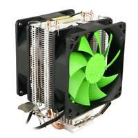 Dual Copper Pipes Dual Fans Hydraulic CPU Cooler Heatpipe Fans Heatsink L&6