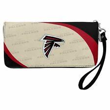 Atlanta Falcons NFL Curve Zip Organizer Wristlet Womens Wallet