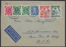 GERMANY, 1952. Cover Bund Mi80,Berlin 80-81, San Jose, Ca