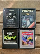 Lot of 4 Games (Activision) for Atari 2600 Porky's, Kung Fu, Stargate, Coleco