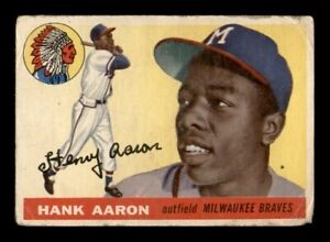 1955 Topps Set Break # 47 Hank Aaron LOW GRADE *OBGcards*