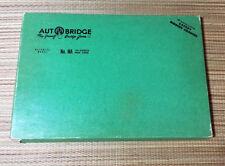 Vintage 1957 AUTOBRIDGE Card Board Game Masonite • MA Advanced Bridge Players