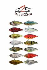 River2Sea Ruckus Lipless Crankbait  Balsawood Crankbait Bass Fishing Lure