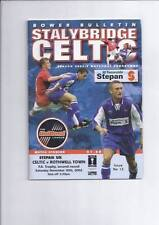 Celtic Football Non-League Fixture Programmes (1990s)
