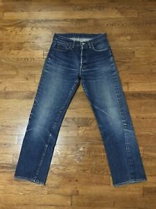 Vintage 60s LEVI'S 501 BIG E Selvedge Redline Single Stitch Size 27 Denim Jeans