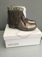 Weide Fringe Ankle Boots Size 3 / 36 New With Box.