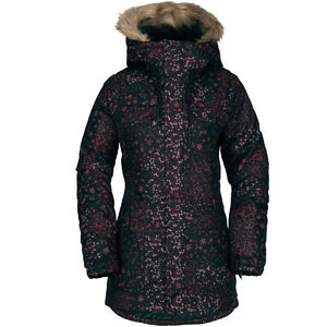 VOLCOM Womens 2019 Snowboard Snow SHADOW INSULATED JACKET Black Floral Print