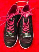 Everlast Sport Athletic Running Shoes Women Black Pink Memory Foam Size 7.5
