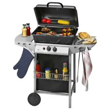 Clatronic Grill 3590 Gas Standing Barbecue Cart Wheels Wheelable with 2 Burner