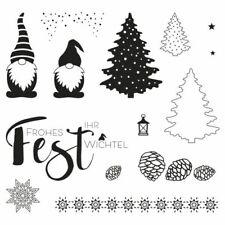 Stempel Clear stamp Grüße Weihnachten Wichtelweihnacht Sprüche Rayher 50-254-000