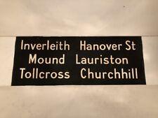"Scottish Bus Blind 1975 30""- Inverleith Hanover Street Lauriston Tollcross Mound"