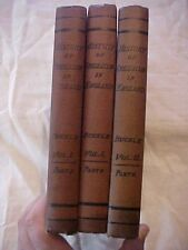 THREE 1913 BOOKS; HISTORY OF CIVILIZATION IN ENGLAND by Buckle