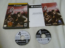 NINTENDO GAMECUBE GAME RESIDENT EVIL 4 COMPLETE W CASE MANUAL 2 DISC RARE CAPCOM