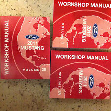 2011 FORD MUSTANG GT COBRA MACH Service Shop Repair Manual Set BRAND NEW 2011