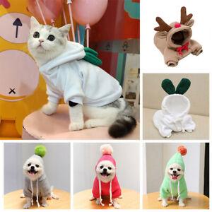 Pet Dog Clothes Jacket Coat Winter Cartoon Hoodies Warm Sweatshirt Puppy Costume