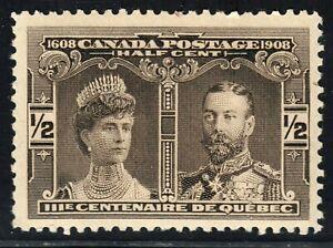 Quebec Tercentenary Issue Scott's # 96 1/2 cent black brown MNH CV $50.00 US