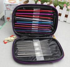 22 Stück Häkelnadel Set 0,6mm - 6,5mm Stricknadeln Aluminium Häkeln mit Tasche