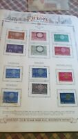1960 through 1968 Europa Unused Stamps In Black Binder 38 Pages  350 Stamps