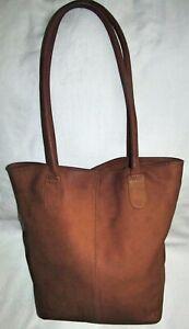 HOBO Brown Suede Genuine Leather Soho Hippy Hipster Tote Shoulder Bag Shopper