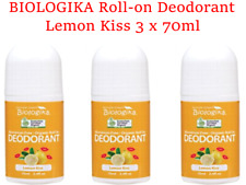 3 x 70ml BIOLOGIKA Lemon Kiss Roll On Deodorant ( Certified Organic )