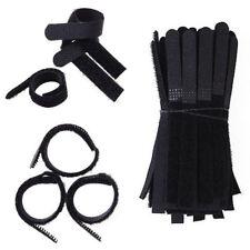 100pcs Nylon Straps Draht Bügel Krawatten Haken selbstklebend Klettband Kabel