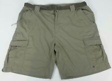 Columbia Men's (XL) Omni-Wick Sage Green Belted Cargo Shorts-Hiking/Fishing