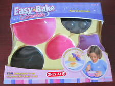 Easy Bake Oven Pan Essentials ~ Cake, Cupcake Pans & Mixing Bowl Hasbro 2006 NEW