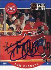 TOM CHORSKE CANADIENS AUTOGRAPH AUTO 90-91 PRO SET #616 *31307
