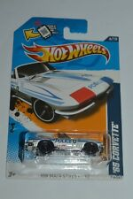 2012 Hot Wheels '65 Corvette Police White Color Hw Main Street Mic Sealed 1:64