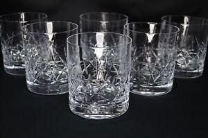 Whiskey Crystal Glass set of 6 Vodka Water Old fashioned 10oz Graffiti Bohemia