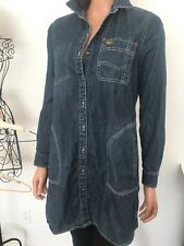 Lee Tunic Dress Jeans Shirt M Female Designer Fashion Pockets Hip Gift Young