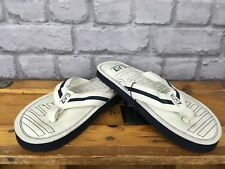 EMPORIO ARMANI EA7 MENS UK 6.5 EU 40 WHITE BLUE SWIM FLIP FLOPS RRP £58