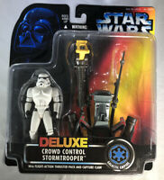 Kenner Star Wars Power of the Force Deluxe Crowd Control Stormtrooper NEW 1996
