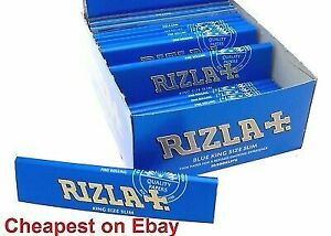 RIZZLA  BLUE KING SIZE SLIM THIN PAPER  REFINED 1-50 BOOKLETS