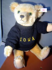 STEIFF Anno Teddy Bear goes to the IOWA game 14 inch USA Limited Edition