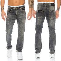 Rock Creek Clubwear Pantalones Vaqueros de Hombre Gris Oscuro Denim Elásticos