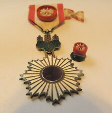 JAPANESE ORDER OF THE RISING SUN 4TH CLASS,  ROSETTE , STICK PIN