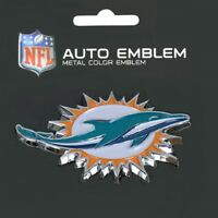 Miami Dolphins Heavy Duty Metal 3-D Color Auto Emblem
