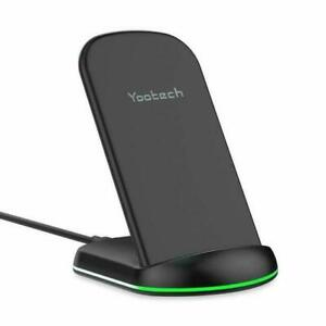Yootech Wireless Charger- Stand And Pad Bundle- Compatible W iPhone and Galaxy