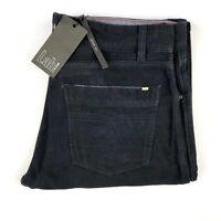 PAL ZILERI LAB Slim Fit Navy Blue Soft Flannel Cotton Jeans Pants 30X33